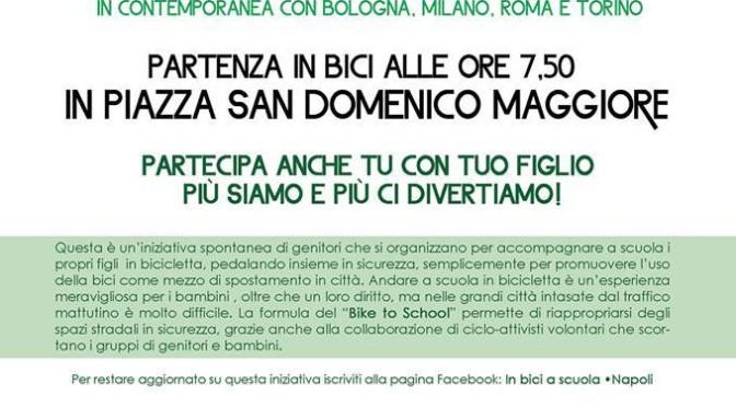 Evento 31 gennaio: in bici a scuola!